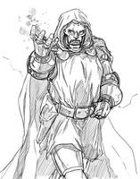 Dr Doom pencils by MarcLaming