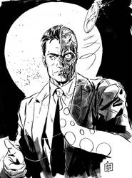 Two Face convention sketch by MarcLaming