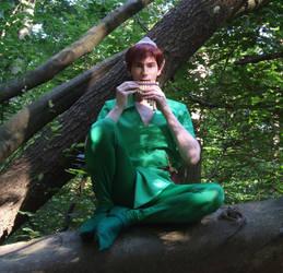 Peter Pan: Playing on my pan flute by Jake-Peter-Pan