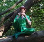 Peter Pan: Playing on my pan flute