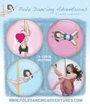 Pole Dancing Button Pack!