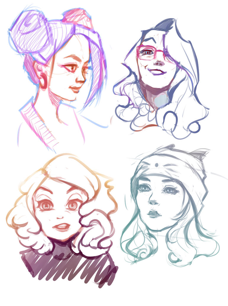 Head sketching by The-Gore-Juice