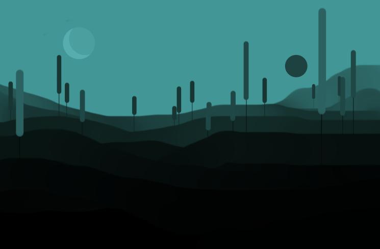 Minimalistic landscape by cancat on deviantart for Minimal art landscape