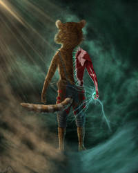 God-touched Rocket Raccoon by Towelyey