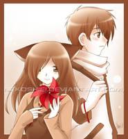 commission: miasuki and tyto by nekoshiei