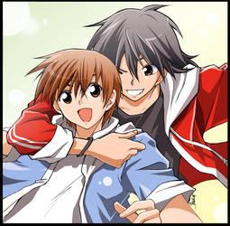commission: Takeru and Shuji by nekoshiei