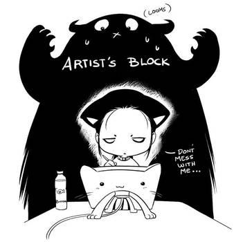 Artist's Block by nekoshiei