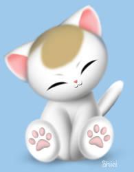 kitten by nekoshiei