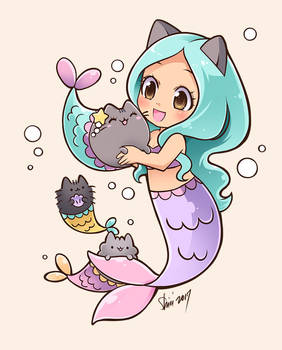 Mermaid Pusheen