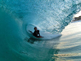 surfing barrels by LouisStone