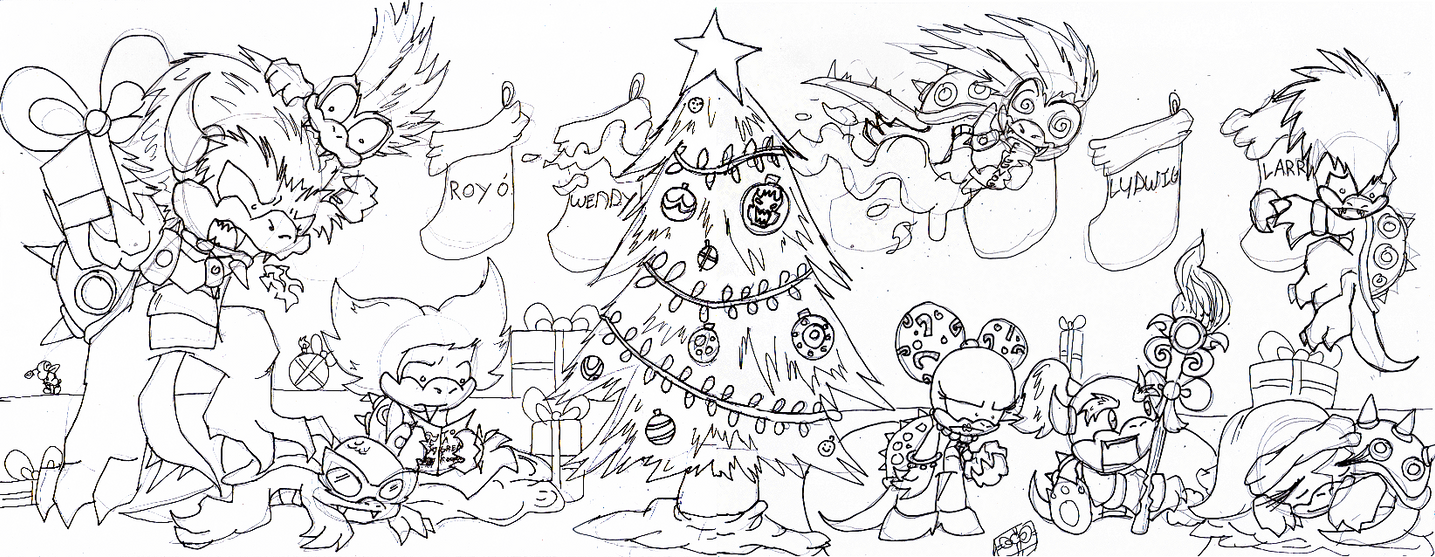 Merry Christmas Koopa kids by metamorro on DeviantArt