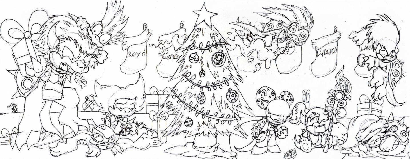 Merry Christmas Koopa Kids By Metamorro On Deviantart