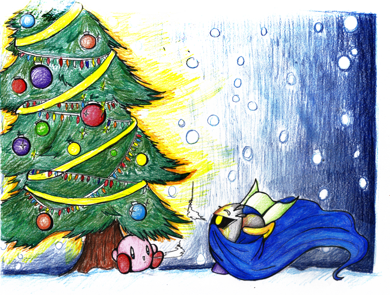 a kirby christmas by metamorro on DeviantArt