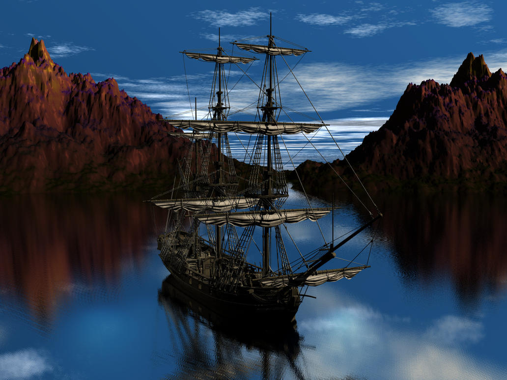Old Pirate Ship by thedigitalcrayon