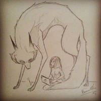Wolf And Girl by HannasFAB
