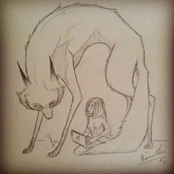 Wolf And Girl by HannasFAB