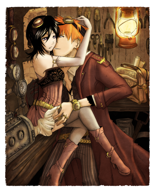 Ichiruki : Steampunk Halloween by Ichigo-x-Rukia-Club