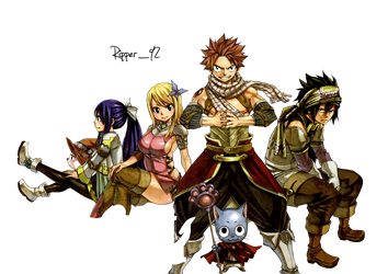 Fairy tail crew 356 render by Ripper1992