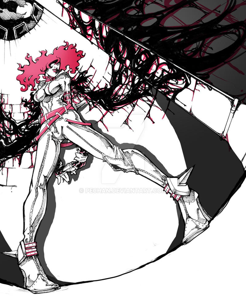 Hot Pink Wings by Pechan