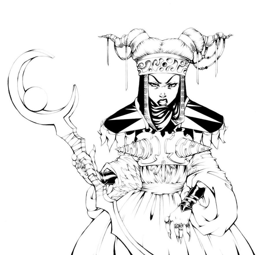 Rita repulsa by pechan on deviantart for Mighty morphin power rangers coloring pages
