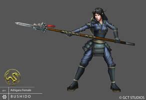 Ashigaru Girl by Pechan