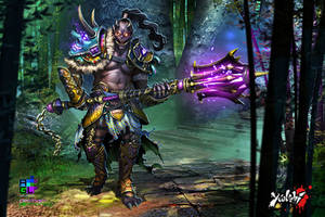 Oni Warrior: Color by Pechan