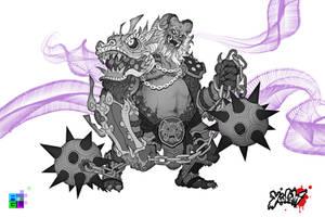 Dragon Oni: Sketch by Pechan