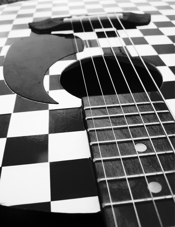 checkered guitar. by FruitByTheRandom on DeviantArt