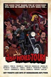 Red Bar Radio world tour poster by svenstoffels