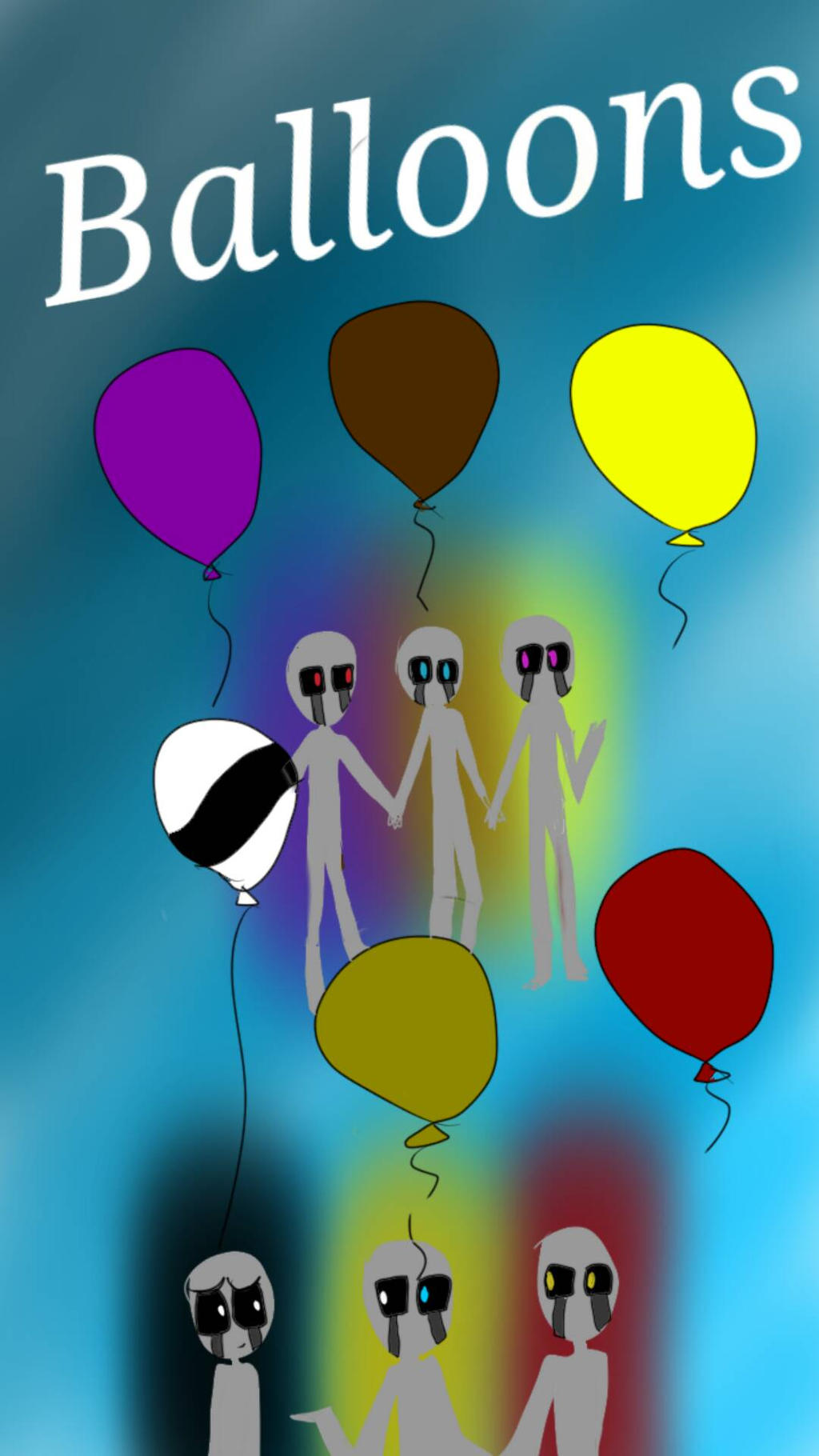Fnaf balloons by mandopony by melissatheartist99 on deviantart