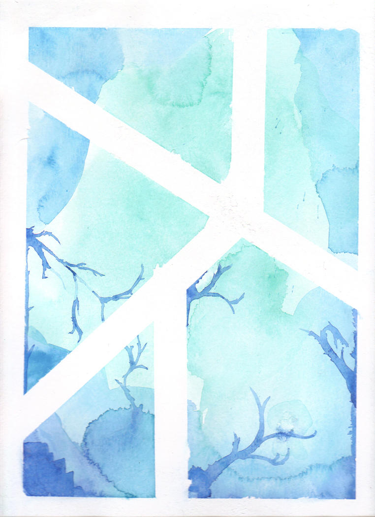 Blue Watercolor by GiraffeQueen