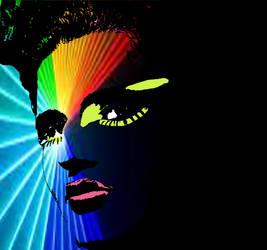 Laser Girl by PopDavid