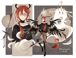 Black Gold Swordsman Adopt AUCTION [closed]