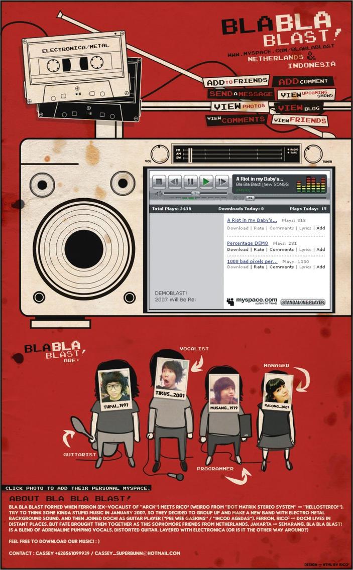 Bla Bla Blast's Myspace by ricoweirdo