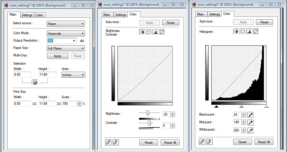 Scanner Settings by imaginee
