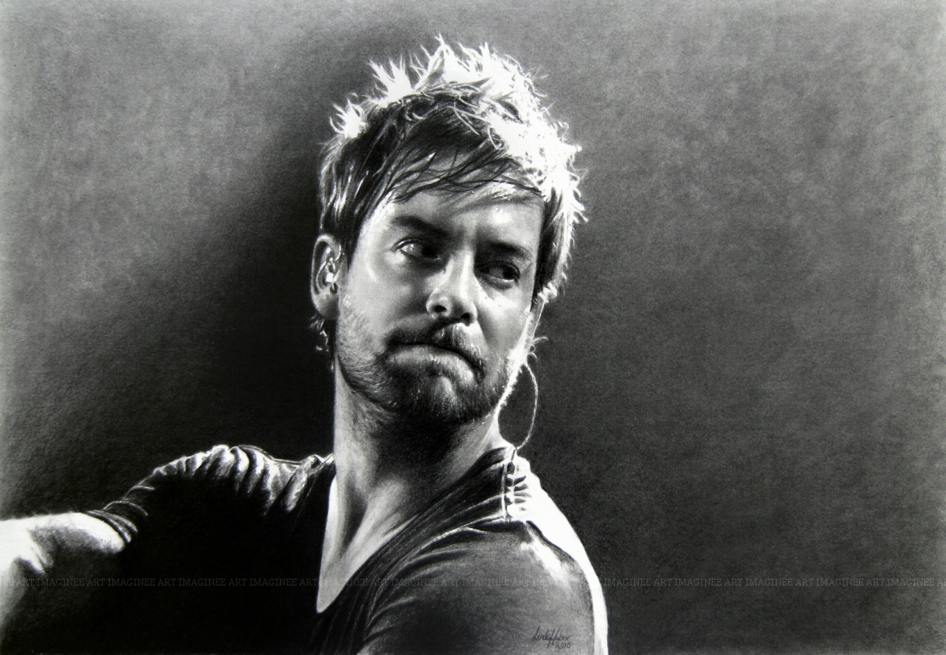 Portrait Of David Cook by imaginee