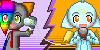 Kaya and Blazie- Double Icon by Blazeflight1O1