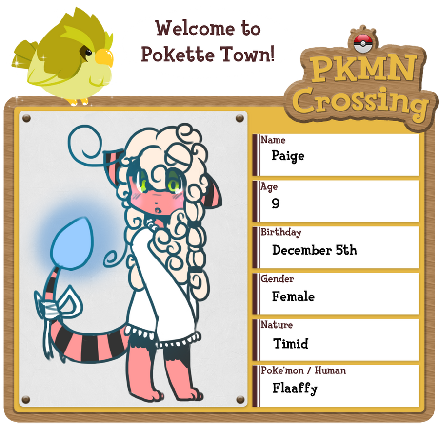 PKMN Crossing App - Paige by Blazeflight1O1