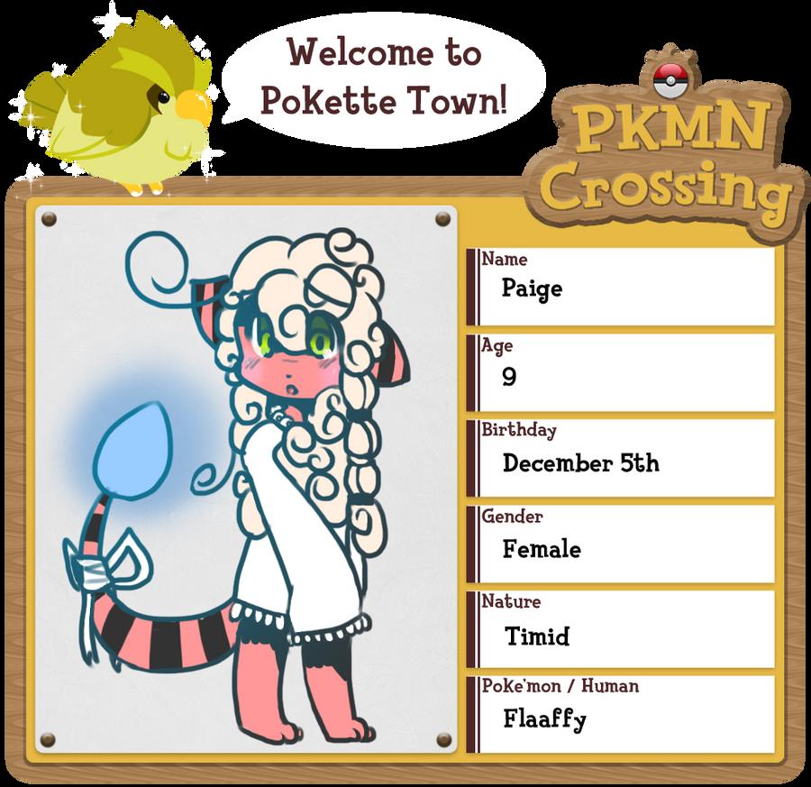 PKMN Crossing App - Paige by Blazeflight1O1
