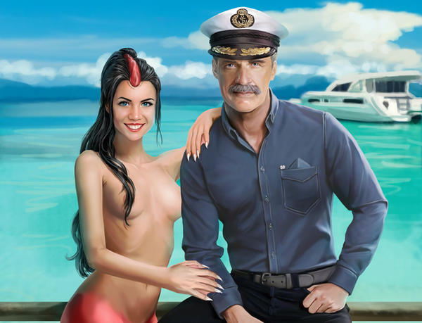 Mermaid Katy and Her Captain