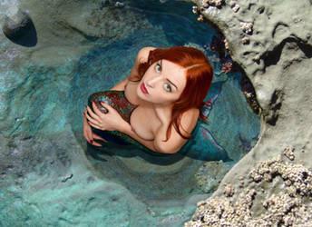 Mermaid Audrey at the Spa by sirenabonita