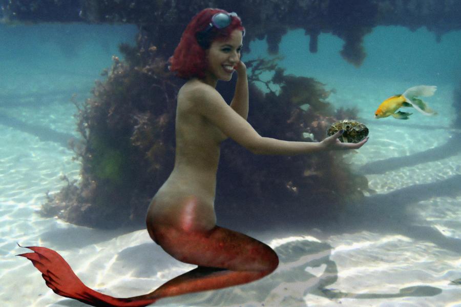 Mermaid Melusine and Friend by sirenabonita