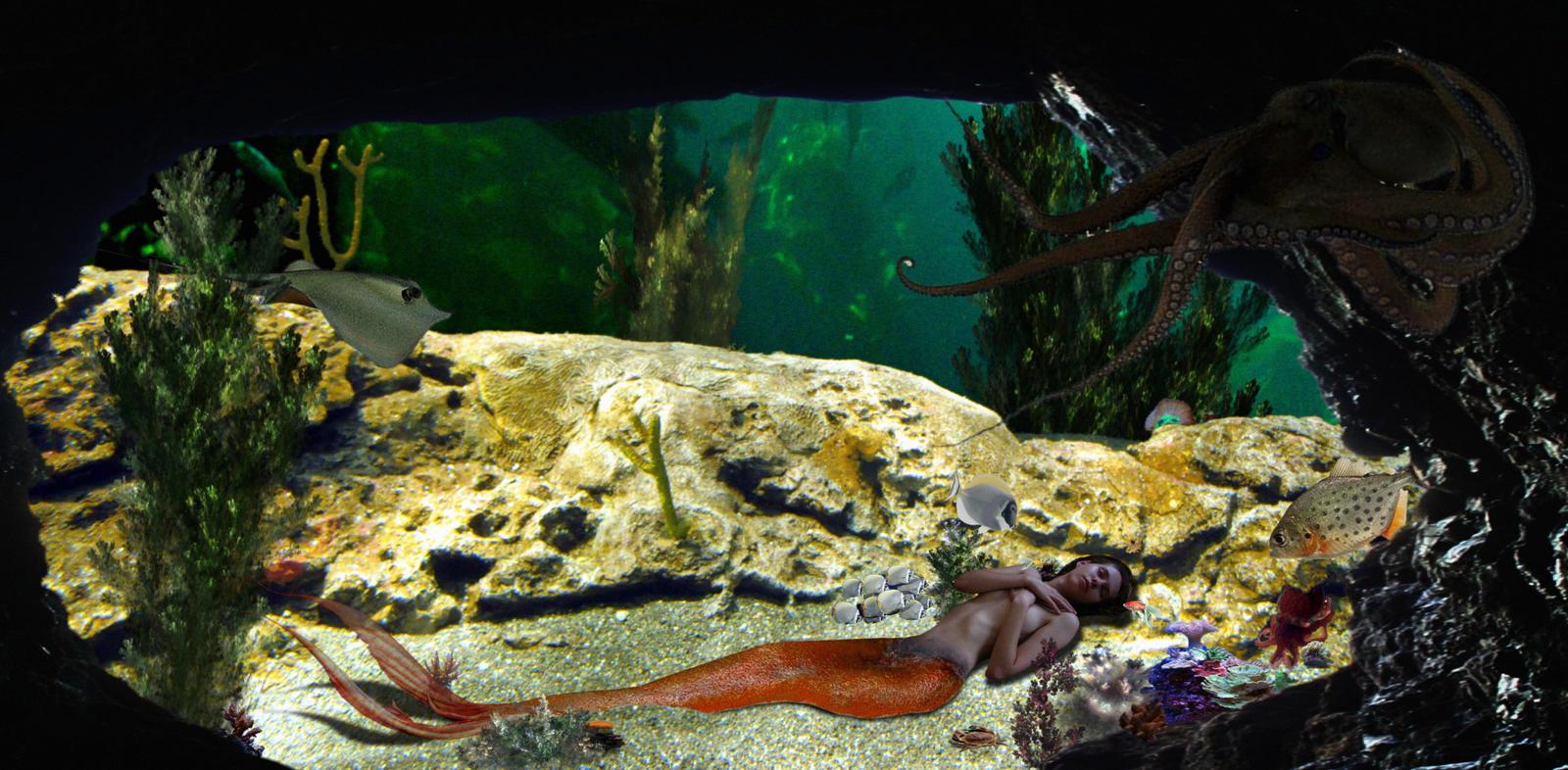Mermaid Yulia - in the octopus' Garden by sirenabonita
