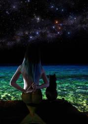 Mermaid Emese  ~ metaphysical talks with Brutus by sirenabonita