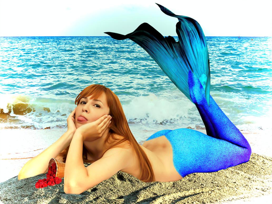 Mermaid Diana ~ Raspberries by sirenabonita