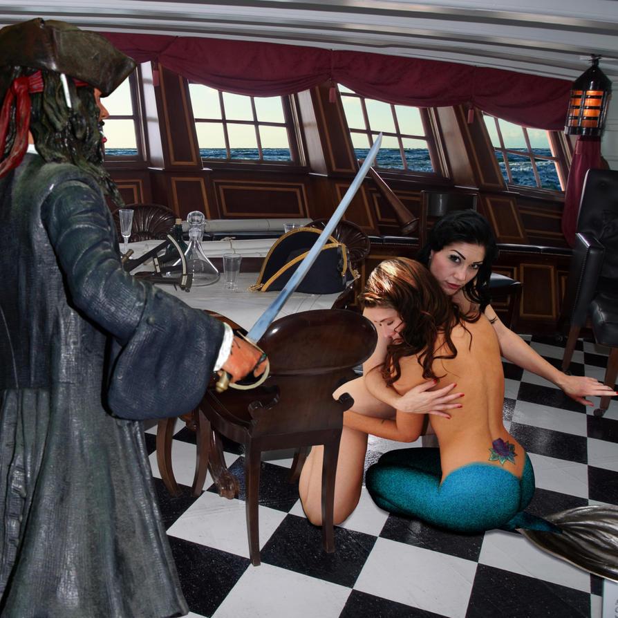 Mermaid Daphney and Lady Kimberly ~ enslaved! by sirenabonita