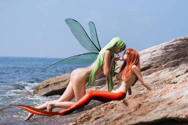 Mermaid Disharmonica and Gliese ~ a summer dream by sirenabonita