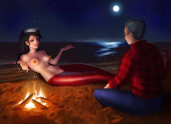 A nighttime enchantment ~ Katy and the Captain by sirenabonita