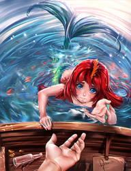 Orphan Mermaid Neraida by sirenabonita