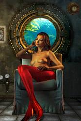 Mermaid Nicola ~ a guest aboard the Nautilus by sirenabonita